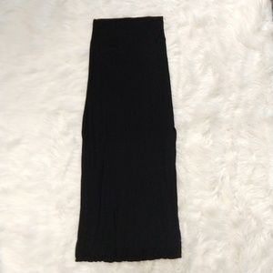 RUE21 black maxi skirt with side slits